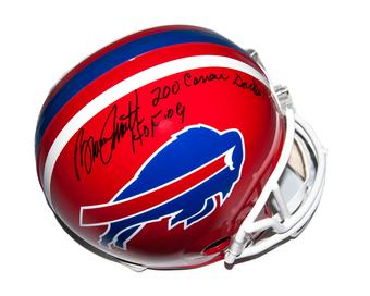 Bruce Smith Autographed Buffalo Bills Football Full Size Helmet 200 Career Sacks!