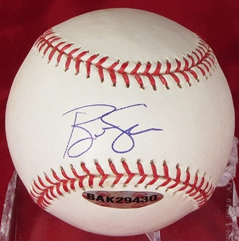 Ben Sheets Autographed Baseball (Slightly Stained) (UDA COA)