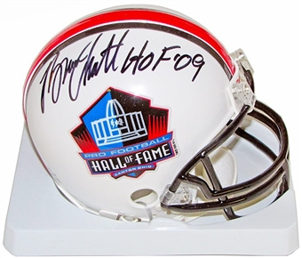 Bruce Smith Autographed Buffalo Bills Hall of Fame Mini Helmet with HOF 09