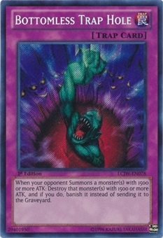 Yu-Gi-Oh Legendary Collection 4 1st Edition Single Bottomless Trap Hole Secret Rare (NM)