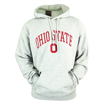 Ohio State Buckeyes NCAA Genuine Stuff Grey Fleece Hoodie (Size Medium)