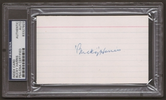 Bucky Harris Autograph (Index Card) PSA/DNA Certified *7923