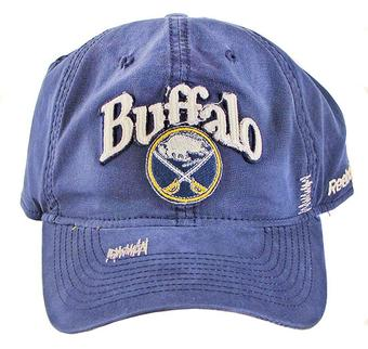 Buffalo Sabres Reebok Navy Distressed Adjustable Slouch Hat (Adult One Size)