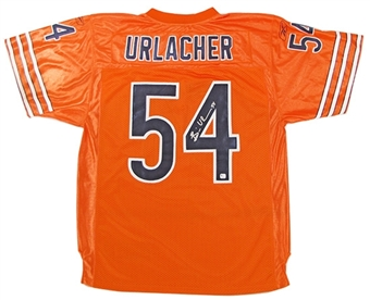Brian Urlacher Autographed Chicago Bears Orange Jersey (GAI COA)