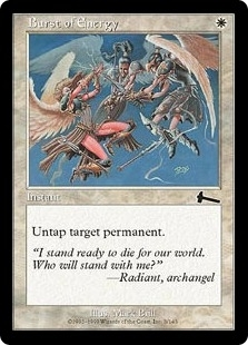 Magic the Gathering Urza's Legacy Single Burst of Energy Foil