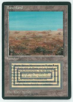 Magic the Gathering 3rd Ed (Revised) FBB GERMAN Single Scrubland - SLIGHT PLAY (SP) v1
