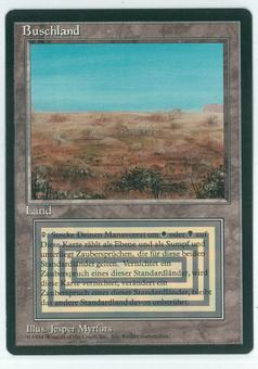 Magic the Gathering 3rd Ed (Revised) FBB GERMAN Single Scrubland - NEAR MINT (NM)