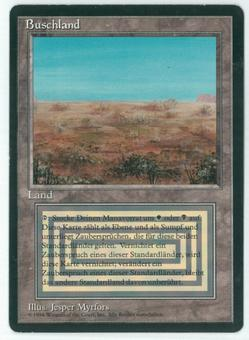 Magic the Gathering 3rd Ed (Revised) FBB GERMAN Single Scrubland - SLIGHT PLAY (SP) v2
