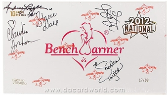 BenchWarmer National Edition Autographed Trading Card Box 17/99 (2012)