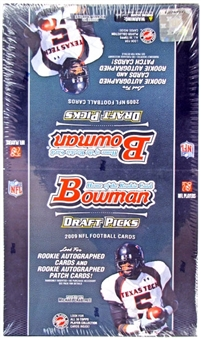 2009 Bowman Draft Picks Football Rack Pack Box (20 Packs)