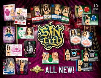 Benchwarmer Sin City Trading Cards 16-Box Case (2015) (Presell)
