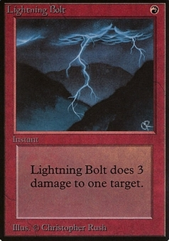 Magic the Gathering Beta Single Lightning Bolt - NEAR MINT/SLIGHT PLAY (NM/SP)