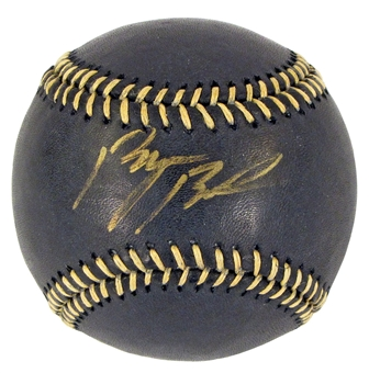 Byron Buxton Autographed Minnesota Twins Black Leather MLB Baseball (JSA)