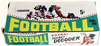 1964 Topps / O-Pee-Chee CFL Football Wax Box