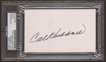 Cal Hubbard Autograph (Index Card) PSA/DNA Certified *7772