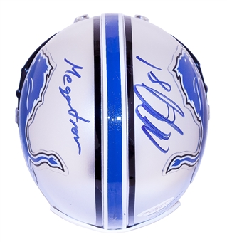 "Calvin Johnson Autographed w/""Megatron"" Inscription Detroit Lions Mini Helmet (JSA)"