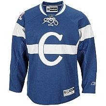 Montreal Canadiens 1915-16 Reebok Premier Blue Jersey (Size Large)