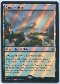 Magic the Gathering Battle for Zendikar Prerelease Single Canopy Vista FOIL - NEAR MINT (NM)