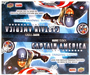 Marvel Captain America Trading Cards 16-Pack Box (Upper Deck 2011)