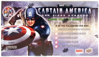 Marvel Captain America Trading Cards Hobby Box (Upper Deck 2011)