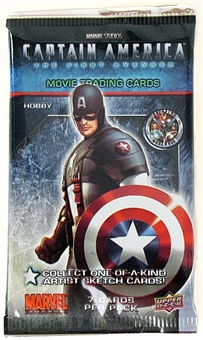 Marvel Captain America Trading Cards Hobby Pack (Upper Deck 2011)