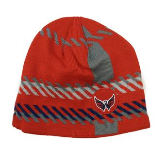 Washington Capitals Old Time Hockey Red Bolgar Beanie Knit Hat (Adult OSFA)