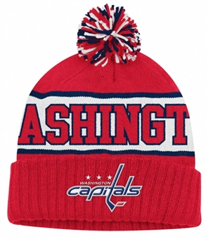 Washington Capitals Reebok Wraparound Cuffed Pom Knit Hat (One Size Fits All)