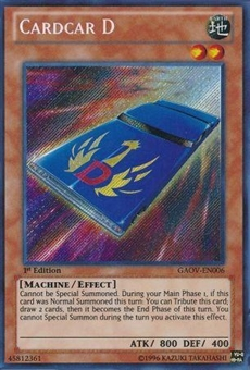Yu-Gi-Oh Galactic Overlord 1st Edition Single Cardcar D Secret Rare