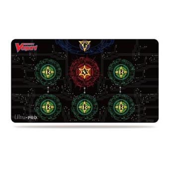 Ultra Pro Cardfight!! Vanguard Red on Black Placement Guide Playmat (Case of 12)