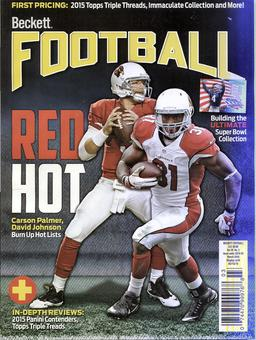 2016 Beckett Football Monthly Price Guide (#302 March) (Arizona Red Hot)