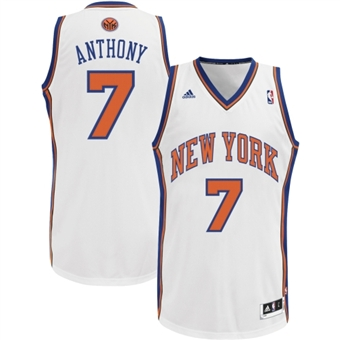 Carmelo Anthony #7 New York Knicks Swingman Jersey (Size X-Large)