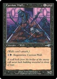 Magic the Gathering Nemesis Single Carrion Wall Foil