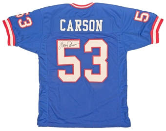 Harry Carson Autographed New York Giants Football Jersey (JSA)