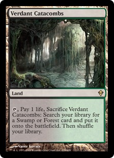 Magic the Gathering Zendikar Single Verdant Catacombs FOIL NEAR MINT (NM)