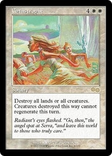 Magic the Gathering Urza's Saga Single Catastrophe - SLIGHT PLAY (SP)