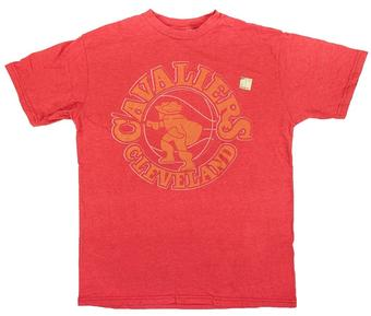 Cleveland Cavaliers Junk Food Heather Red Vintage Logo Tee Shirt