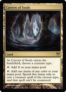 Magic the Gathering Avacyn Restored Single Cavern of Souls - SLIGHT PLAY (SP)