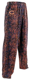 Chicago Bears Zubaz Navy and Orange Post Print Pants