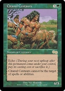 Magic the Gathering Urza's Saga Single Citanul Centaurs - SLIGHT PLAY (SP)