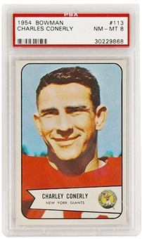 1954 Bowman Football #113 Charles Conerly PSA 8 (NM-MT) *9868