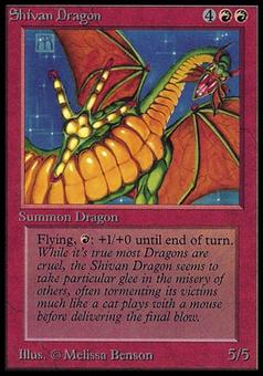 Magic the Gathering Beta International Collector's Edition CE Single Shivan Dragon (NEAR MINT)