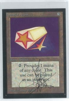 Magic the Gathering Beta Artist Proof Celestial Prism - SIGNED AND ALTERED BY AMY WEBER