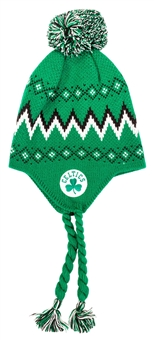 Boston Celtics Adidas Green Tassle Knit with Pom Knit Hat Beanie (Boys 4-7)