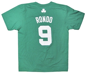 Rajon Rondo Boston Celtics Green Adidas T-Shirt (Size Medium)