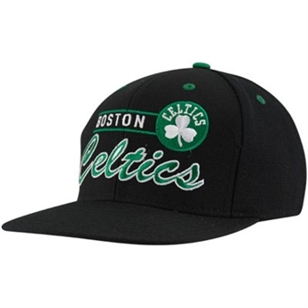 Boston Celtics Adidas Black Grind Snapback Adjustable Hat (One Size Fits All)
