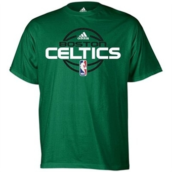 Boston Celtics Green Adidas Team Issue T-Shirt (Size Small)