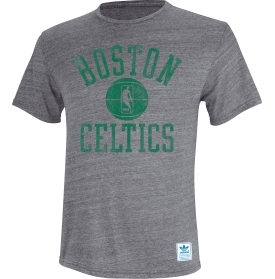 Boston Celtics Adidas Grey Practice Shot Tri-Blend T-Shirt (Size Medium)