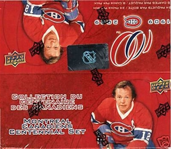 2008/09 Upper Deck Montreal Canadiens Centennial Hockey 24-Pack Box