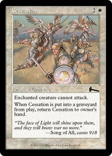 Magic the Gathering Urza's Legacy Single Cessation Foil