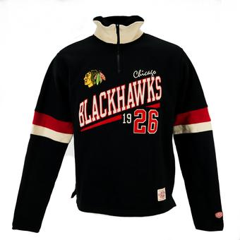 Chicago Blackhawks Old Time Hockey Christopher Black Quarter Zip Fleece (Adult L)